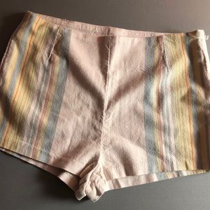 Free People Striped High Waisted Shorts Size 10